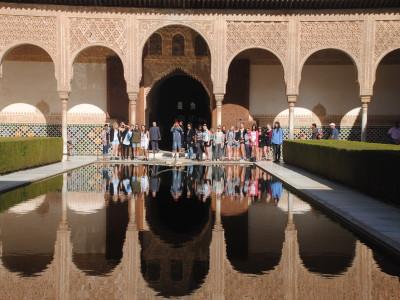 Grupo en la Alhambra